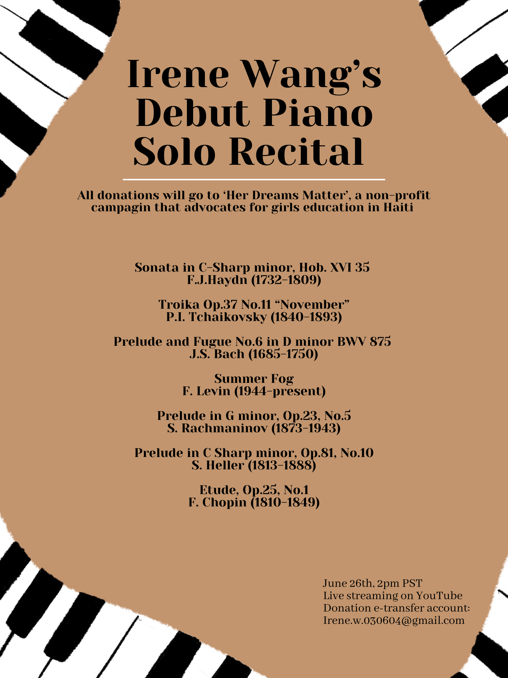 Irene's Recital Poseter
